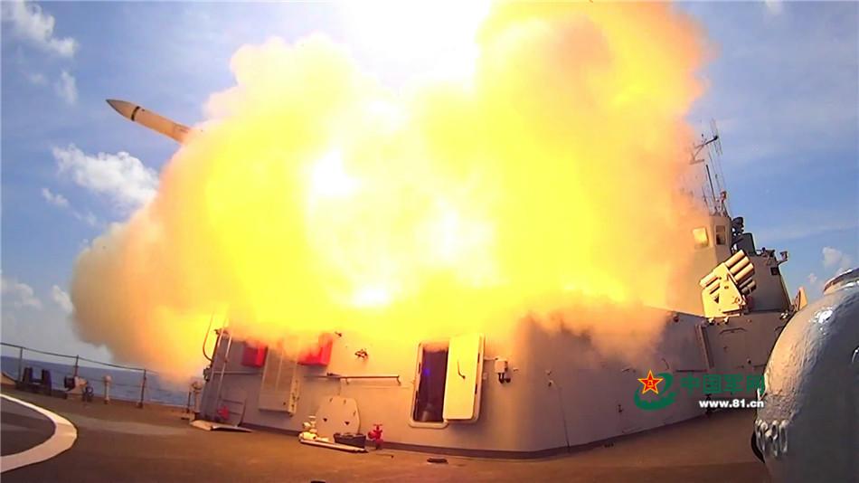 军方公布海军三大舰队百艘舰艇演兵画面 - 双梅 - 张静华