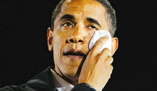 奥巴马下台前流下鳄鱼的眼泪