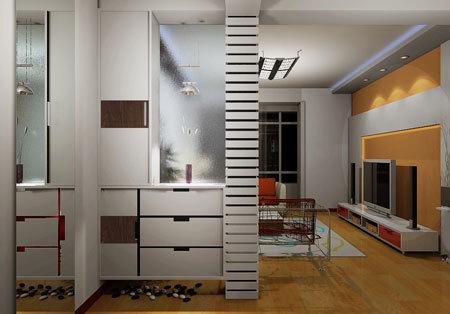 玄关鞋柜装修效果图,尽显玄关魅力,玄关作为房子的起点,设计得好,整间