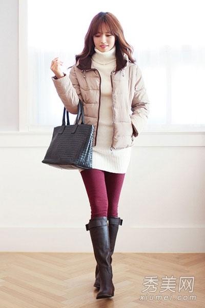 棉服外套搭配图片 帮你穿出时尚感