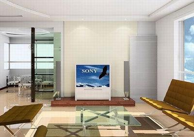 客厅电视背景墙装修图片:小房间如果用布料做背景墙则面积不宜过大