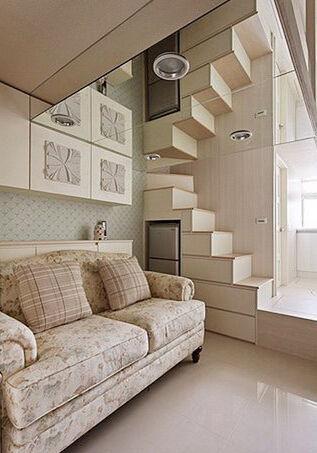 今天要欣赏到地是小户型地装修设计案例,超大胆超出位,17平米地小房间