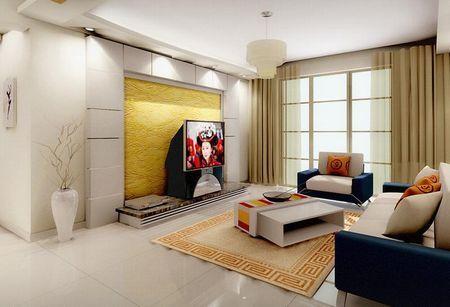 客厅电视背景墙装修图片:中式风格