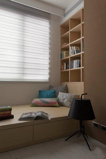 95平3居中式风格客厅装修 6万半包设计榻榻米卧室