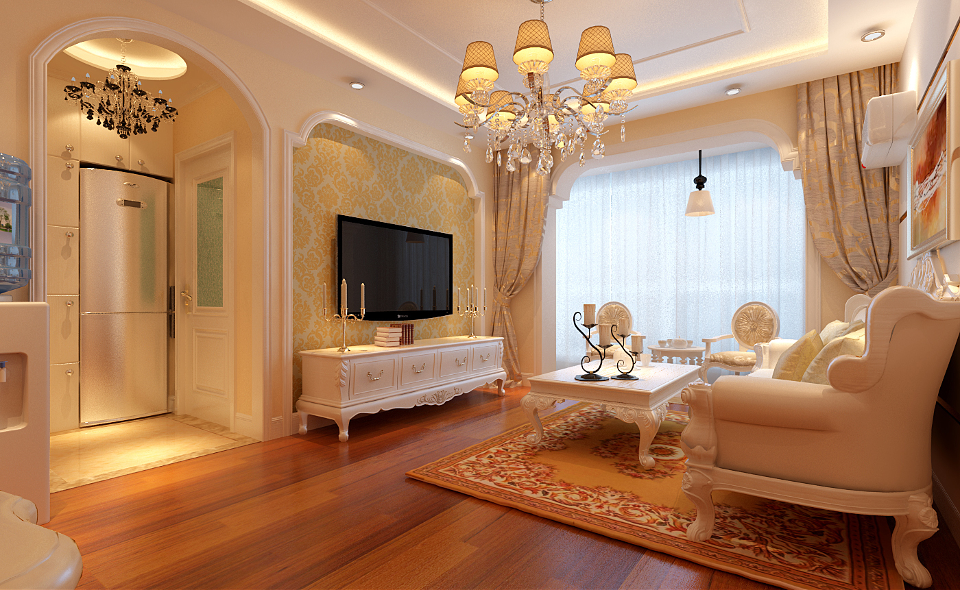 孔雀英国宫-一居室-64.56平米-客厅装修效果图