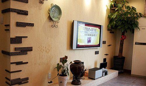 小户型简约又时尚 客厅电视背景墙装修效果图大全