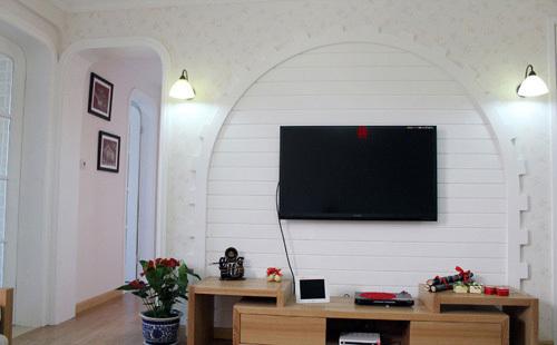 客厅弧形电视背景墙