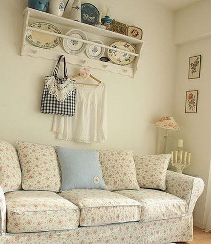 小户型客厅装修效果图 清新田园风格
