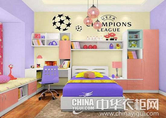 儿童房衣柜装修图 七彩缤纷童年生活