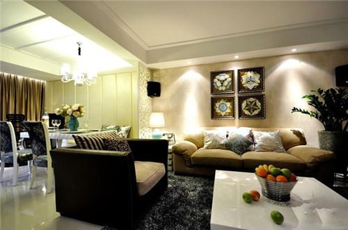装修效果图 卫生间装修效果图 90平简欧风格电视背景墙装