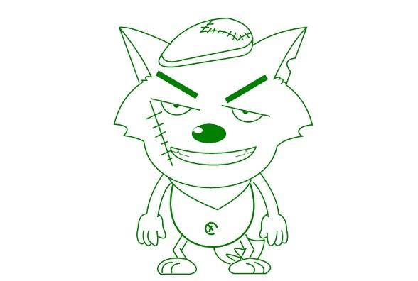 动漫 简笔画 卡通 漫画 手绘 头像 线稿 588_396